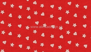 SCANDI Red Hearts and Stars